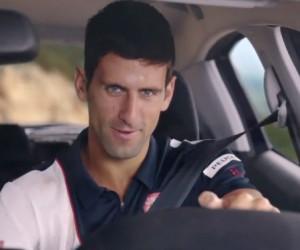Novak Djokovic dans la nouvelle publicité Peugeot 208