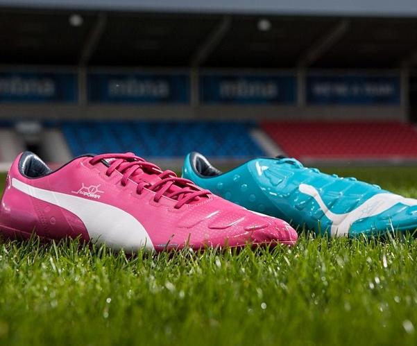 puma evopower pink blue boots world cup 2014