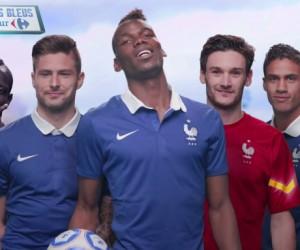Carrefour vous offre une expérience 3D en réalité augmentée avec l'Equipe de France de Football
