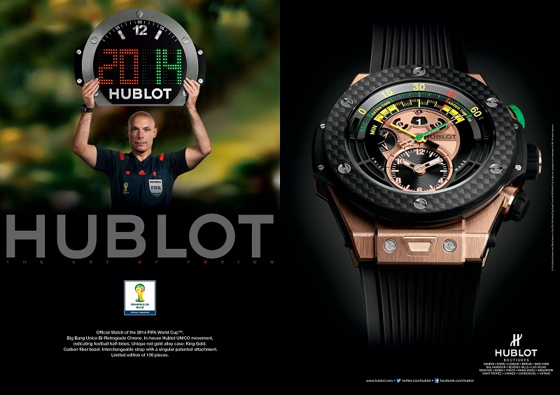 Hublot display referee world cup 2014