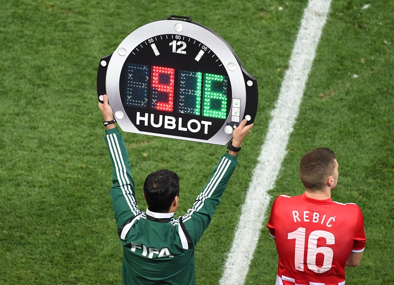 hublot watch referee world cup 2014 extra time substitute