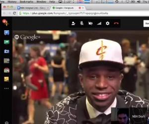La NBA s'associe à Google à l'occasion de la Draft 2014 en lançant des hangouts suprises à destination des Fans