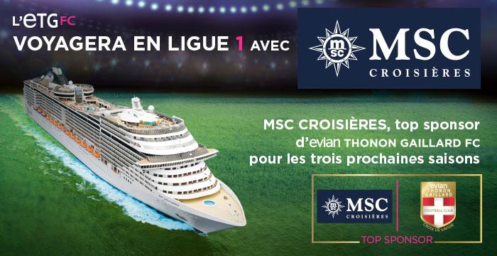 ETG FC MSC croisières sponsoring maillot ligue 1