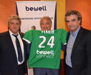 BewellConnect nouveau sponsor au dos des maillots de l'AS Saint-Etienne