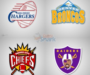 NBA x NFL logos mashups