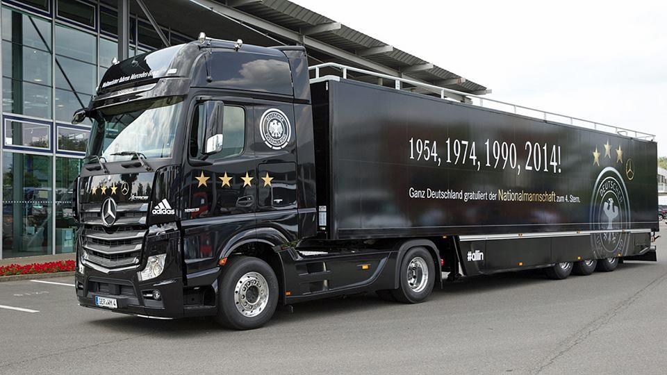 mercedes allemagne coupe du monde 2014 sponsoring truck étoile