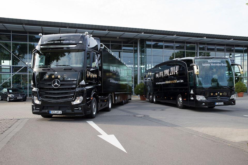 mercedes benz allemagne coupe du monde 2014 bus truck étoile