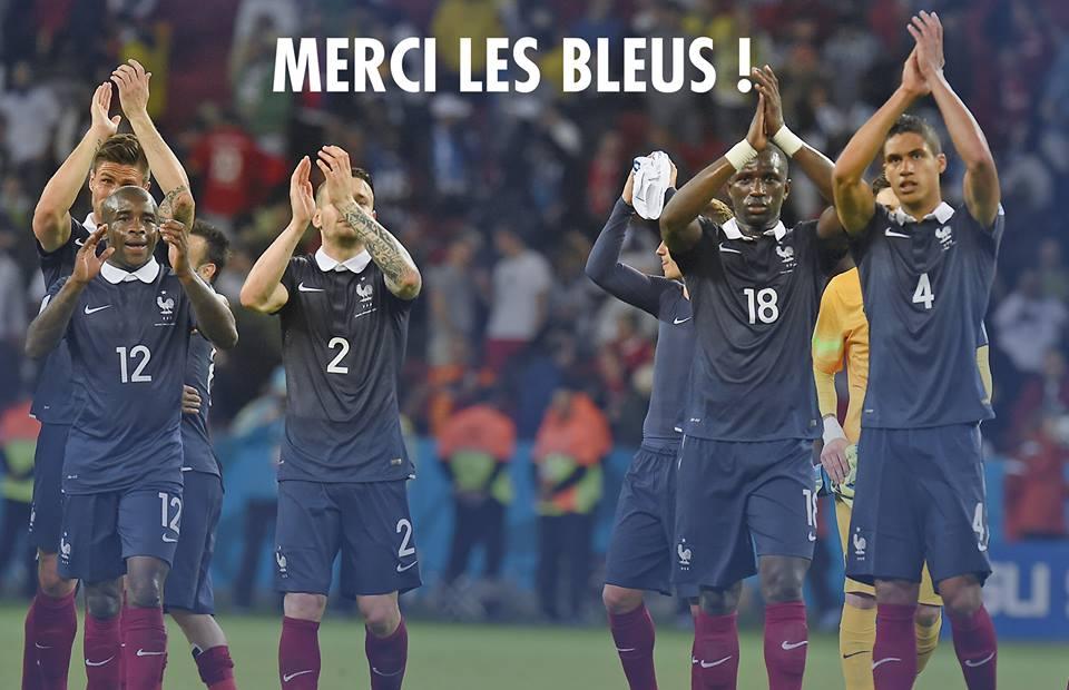 merci les bleus coupe du monde 2014