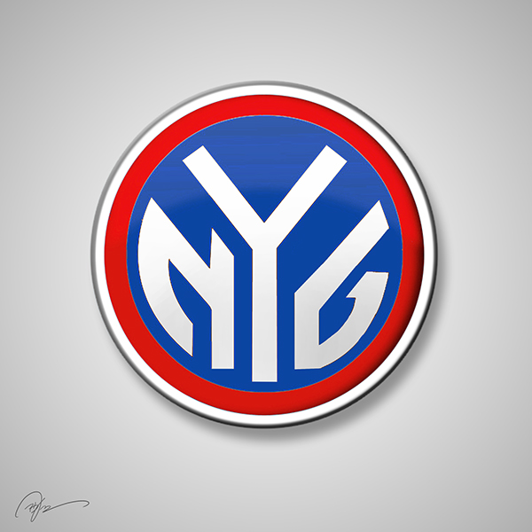 new york giants new york knicks nba nfl logo mix
