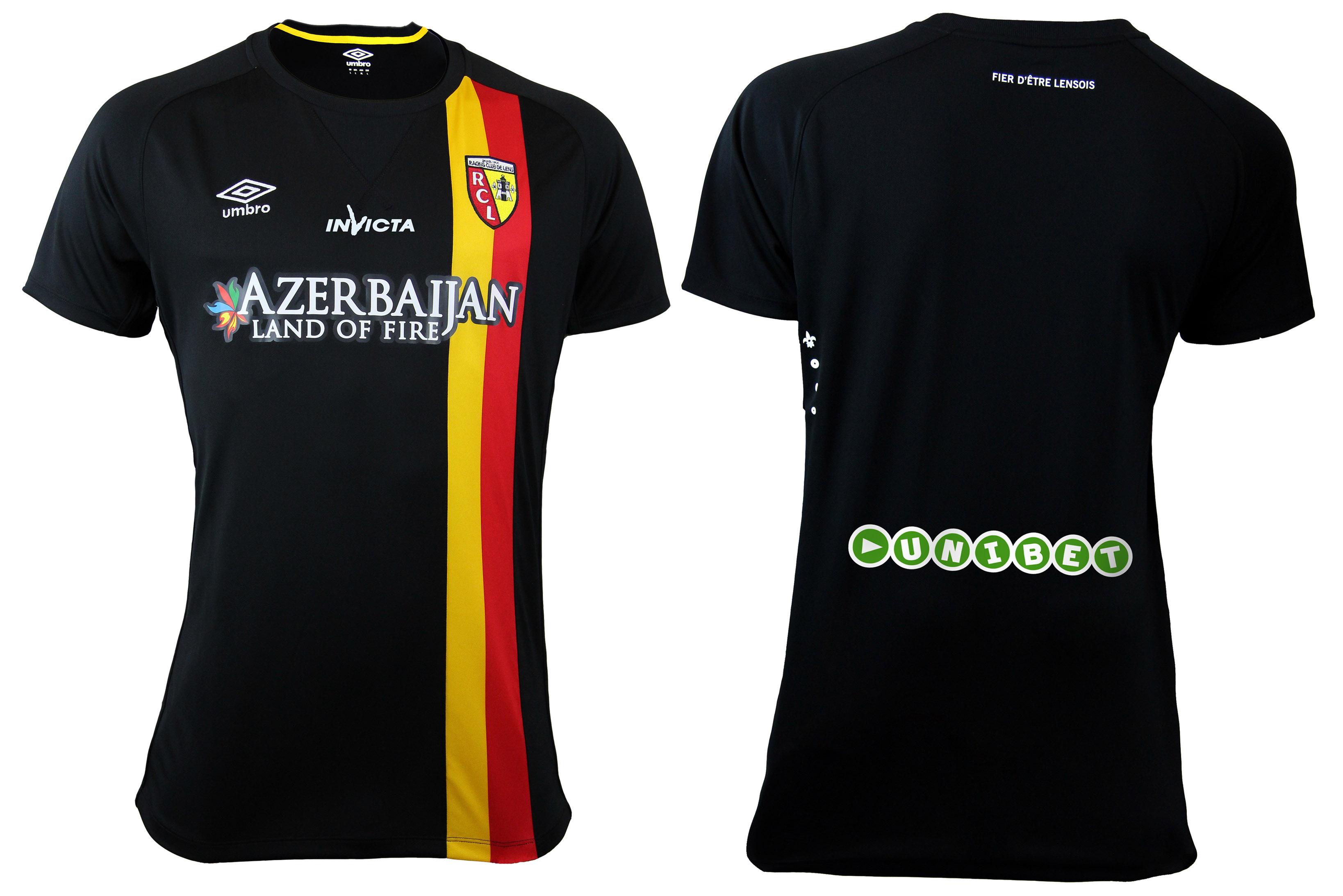 nouveau maillot extérieur RC Lens 2014 2015 umbro