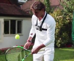 Rafael Nadal réalise 406 jongles avec la tranche de la raquette Babolat Pure Drive Wimbledon !