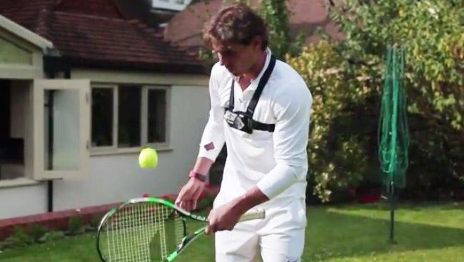 rafael nadal wimbledon tennis 406 jongles raquette Wimbjuggledon