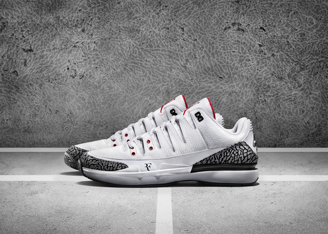 NIKECOURT ZOOM VAPOR AJ3 BY JORDAN federer tennis shoe us open 2014