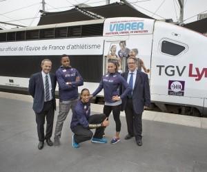 Zurich 2014 – TGV Lyria transporte la Fédération Française d'Athlétisme