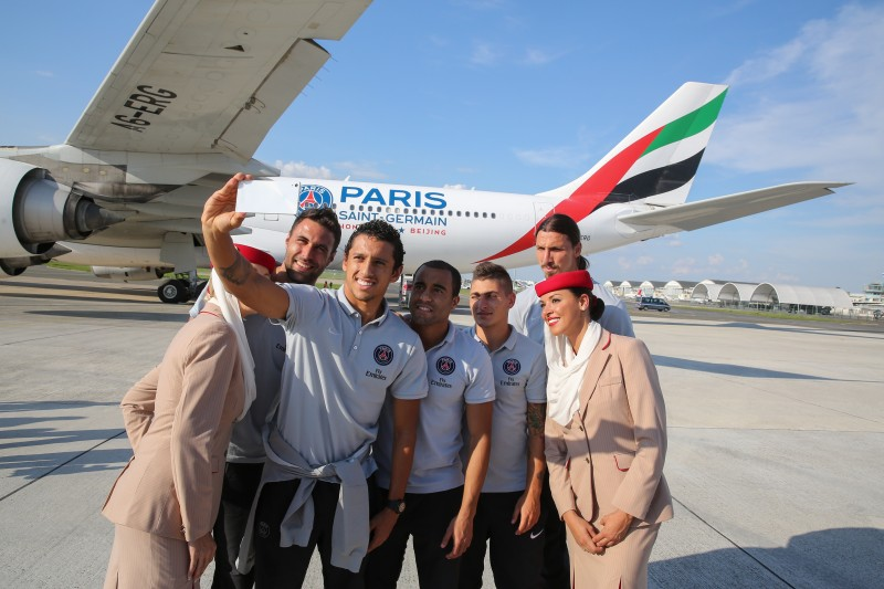 emirates avion PSG