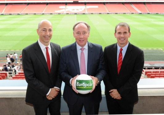 europcar arsenal official partner sponsoring football