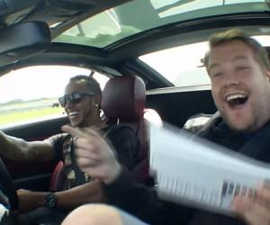 L'interview embarquée de Lewis Hamilton par le comédien James Corden (Puma – Forever Faster)
