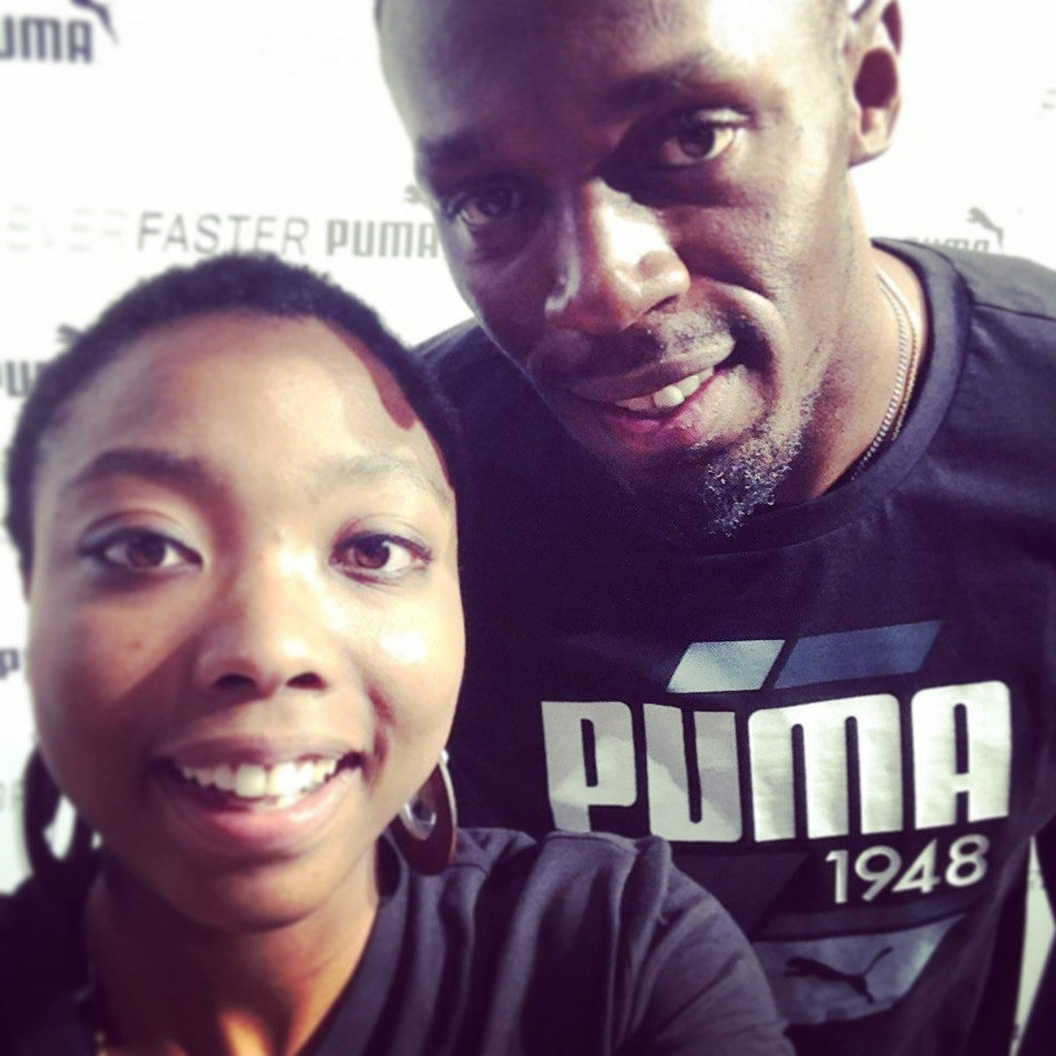 rencontre usain bolt intersport Paris
