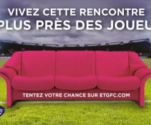 L'ETG FC met en place une opération canapé VIP en bord de pelouse contre l'Olympique de Marseille