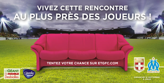 ETG canapé VIP OM fan experience money can't buy