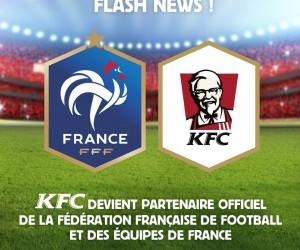 KFC nouveau partenaire de la Fédération Française de Football (FFF)