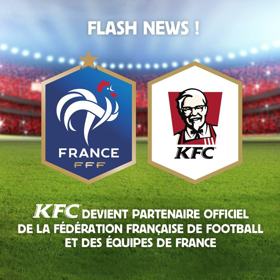 KFC FFF sponsor équipe de france les bleus