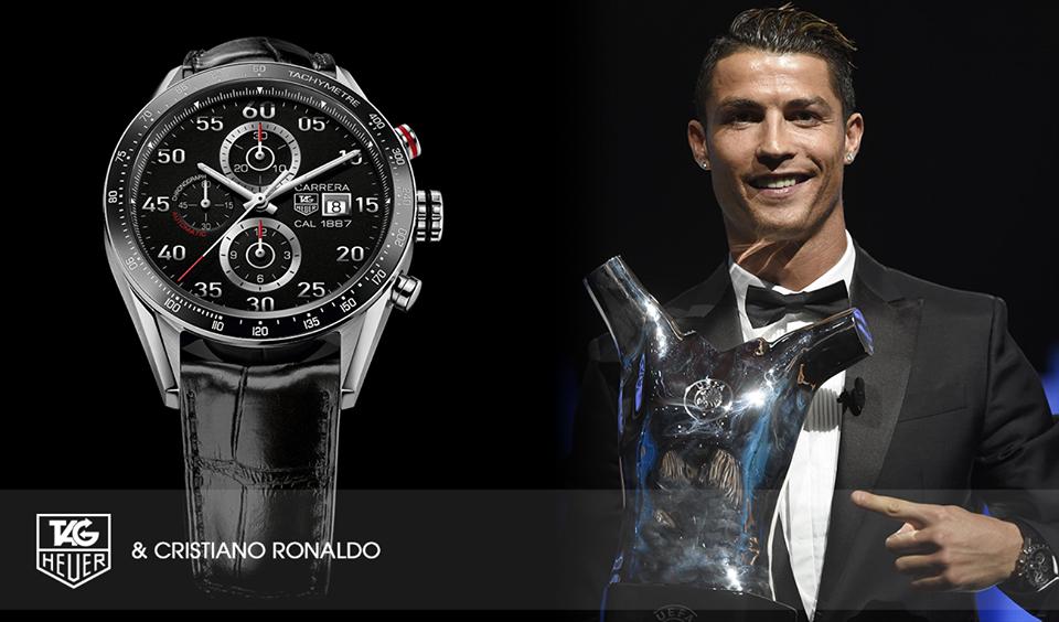 cristiano ronaldo d fie jenson button sur circuit pour tag heuer ForTag Heuer C Ronaldo