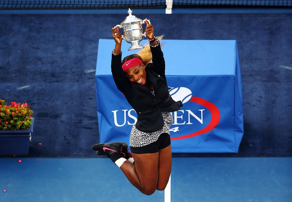 serena williams us open 2014 trophy 4M$
