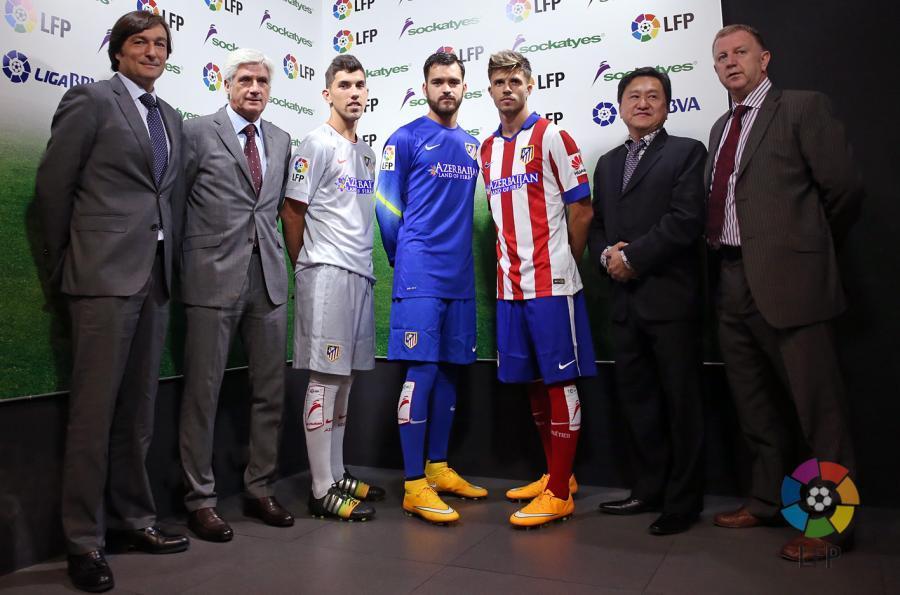 Atletico Madrid Sockatyes sponsoring chaussettes