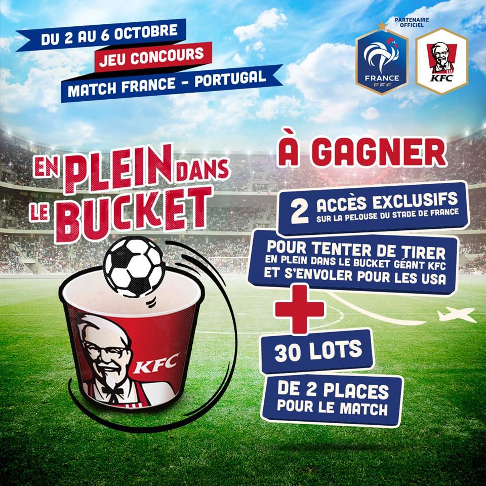 en plein dans le bucket KFC FFF équipe de france football