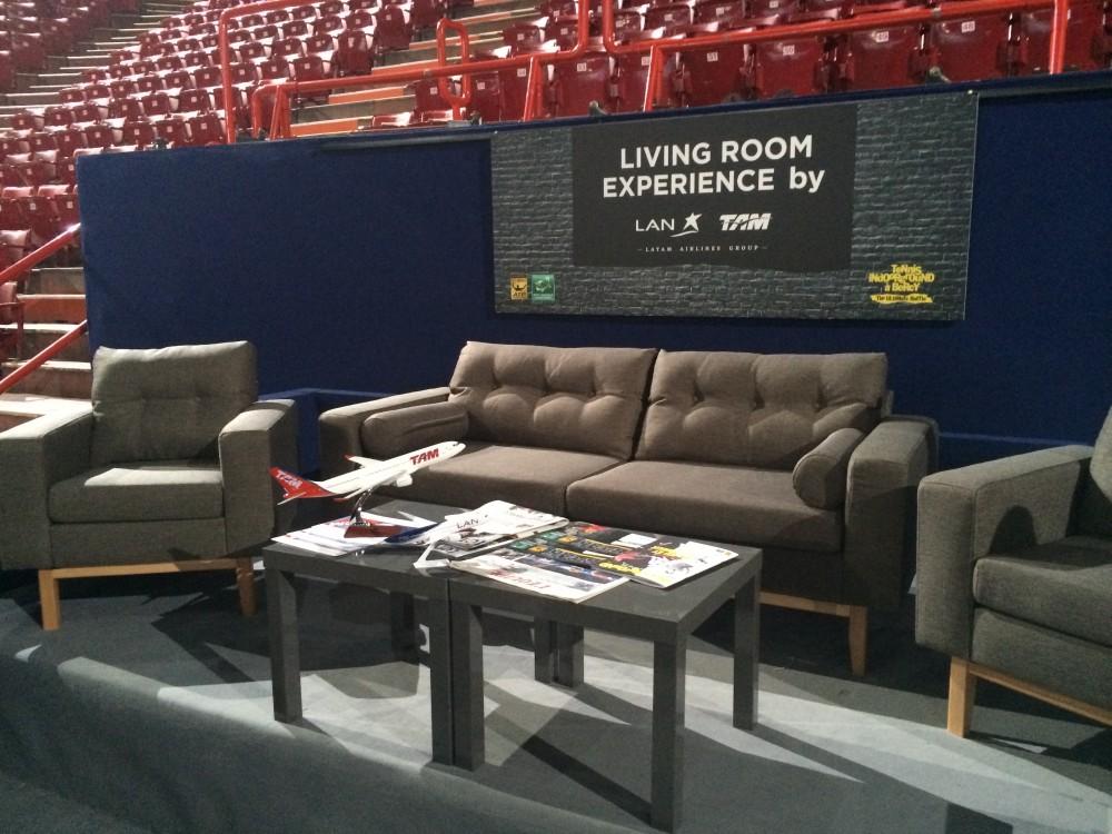 living room experience BNP Paribas masters latam