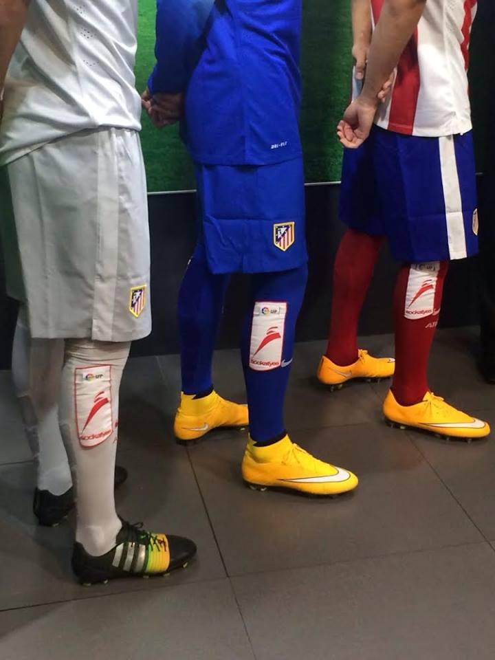 sponsoring chaussettes football espagne Sockatyes liga atletico madrid