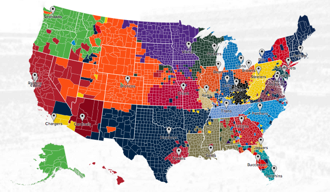 nfl coverage map football gambling sites