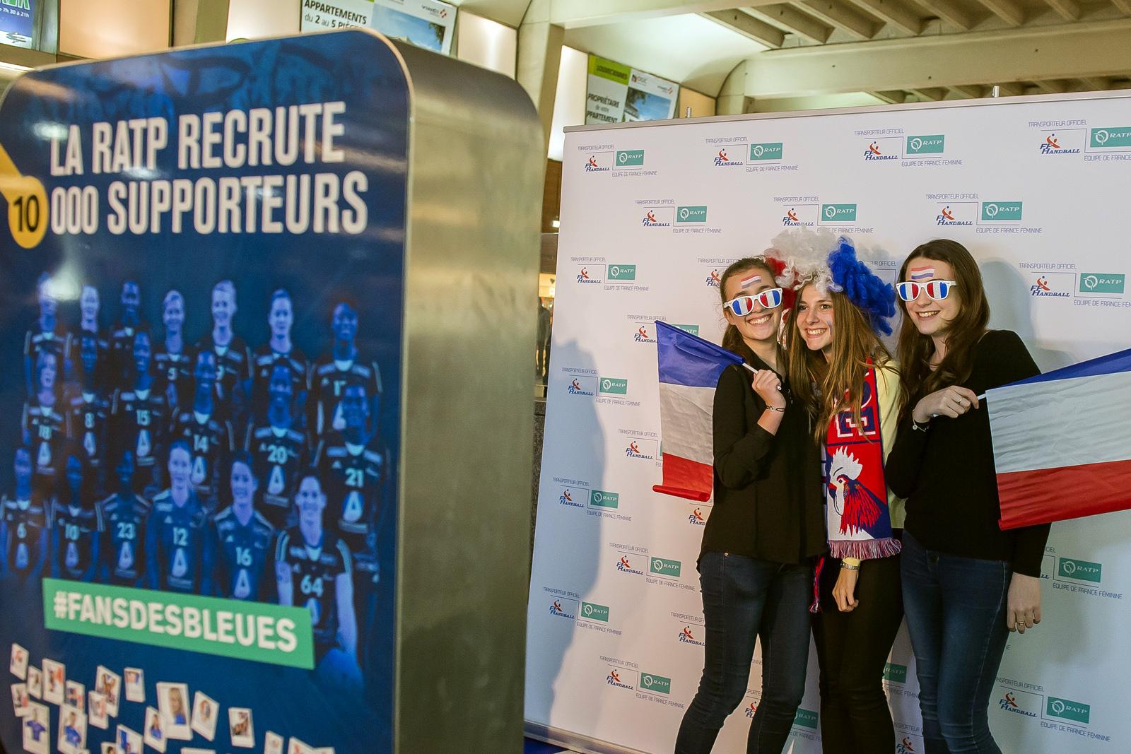 RECRUTEMENT DE SUPPORTERS ET FANS POUR EQUIPE DE FRANCE FEMININE