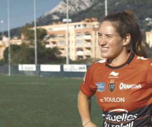 Camille Muffat s'invite à l'Allianz Riviera de Nice pour le match RC Toulon – ASM Clermont