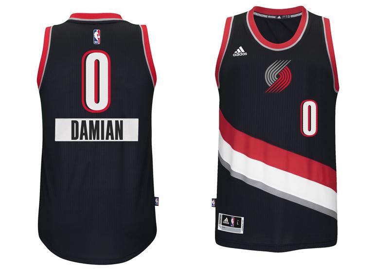 chrismas jersey 2014 NBA Damian first name