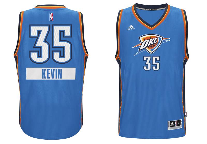 chrismas jersey 2014 NBA Kevin OKC  first name