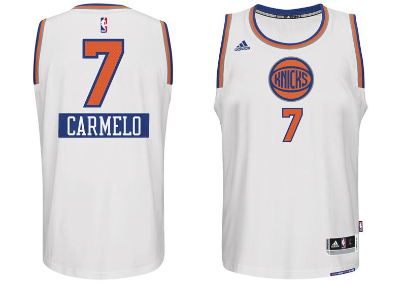 chrismas jersey 2014 NBA carmelo New York Knicks first name