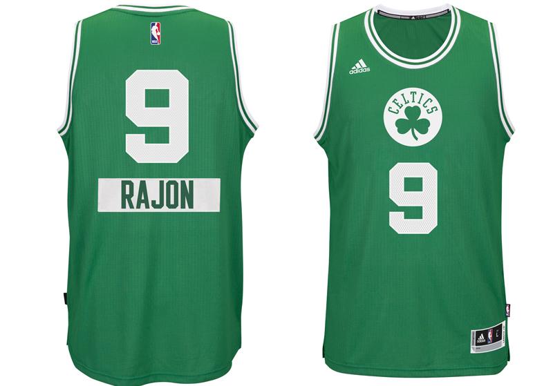 chrismas jersey 2014 NBA rajon rando celtics boston first name