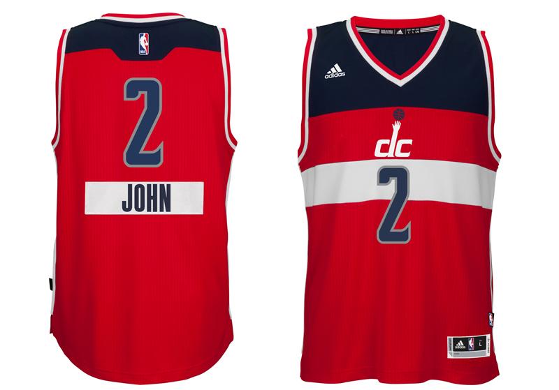 chrismas jersey 2014 NBA wizards first name