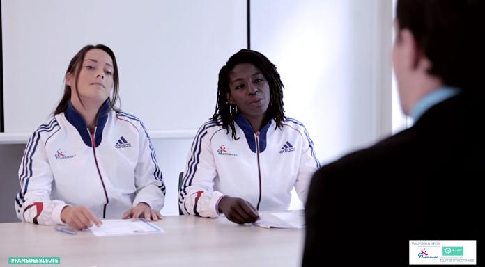 entretien d'embauche de fans RATP equipe de france handball cléopatre darleux