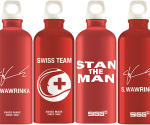 Le fabriquant de gourdes suisse SIGG devient Partenaire de Stan Wawrinka