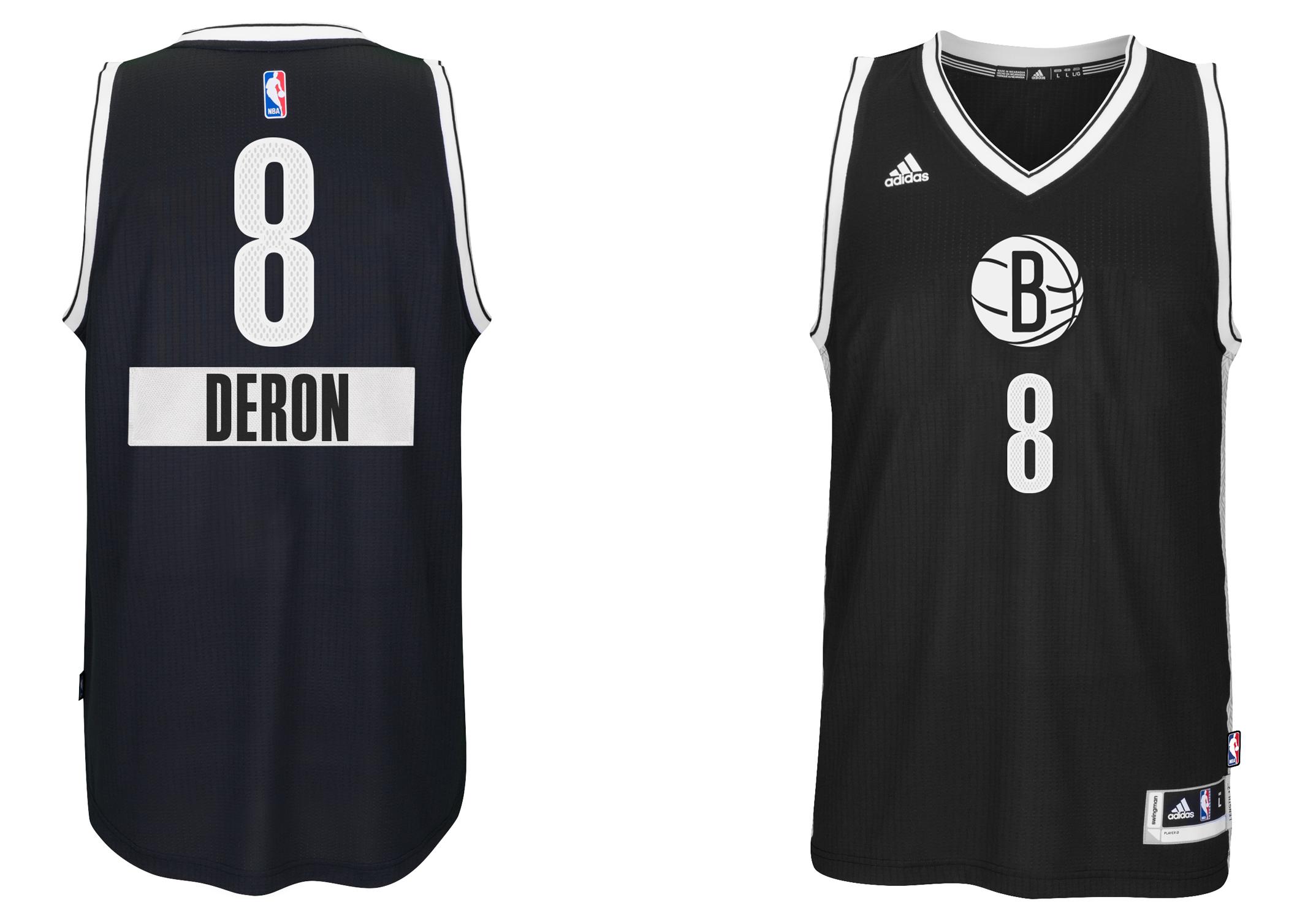 maillot NBA noël 2014 brooklyn nets deron chrismas jersey