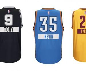 La NBA et adidas affichent le prénom de ses stars sur les maillots portés le jour de Noël