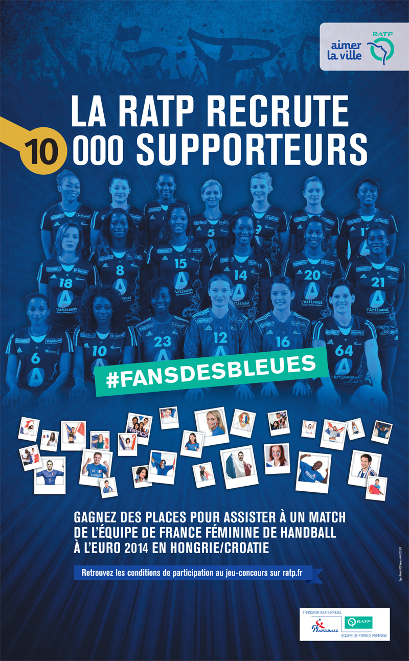 ratp recrute fans et supporters equipe de france handball