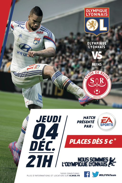 FIFA 15 parrain du match OL - stade de reims