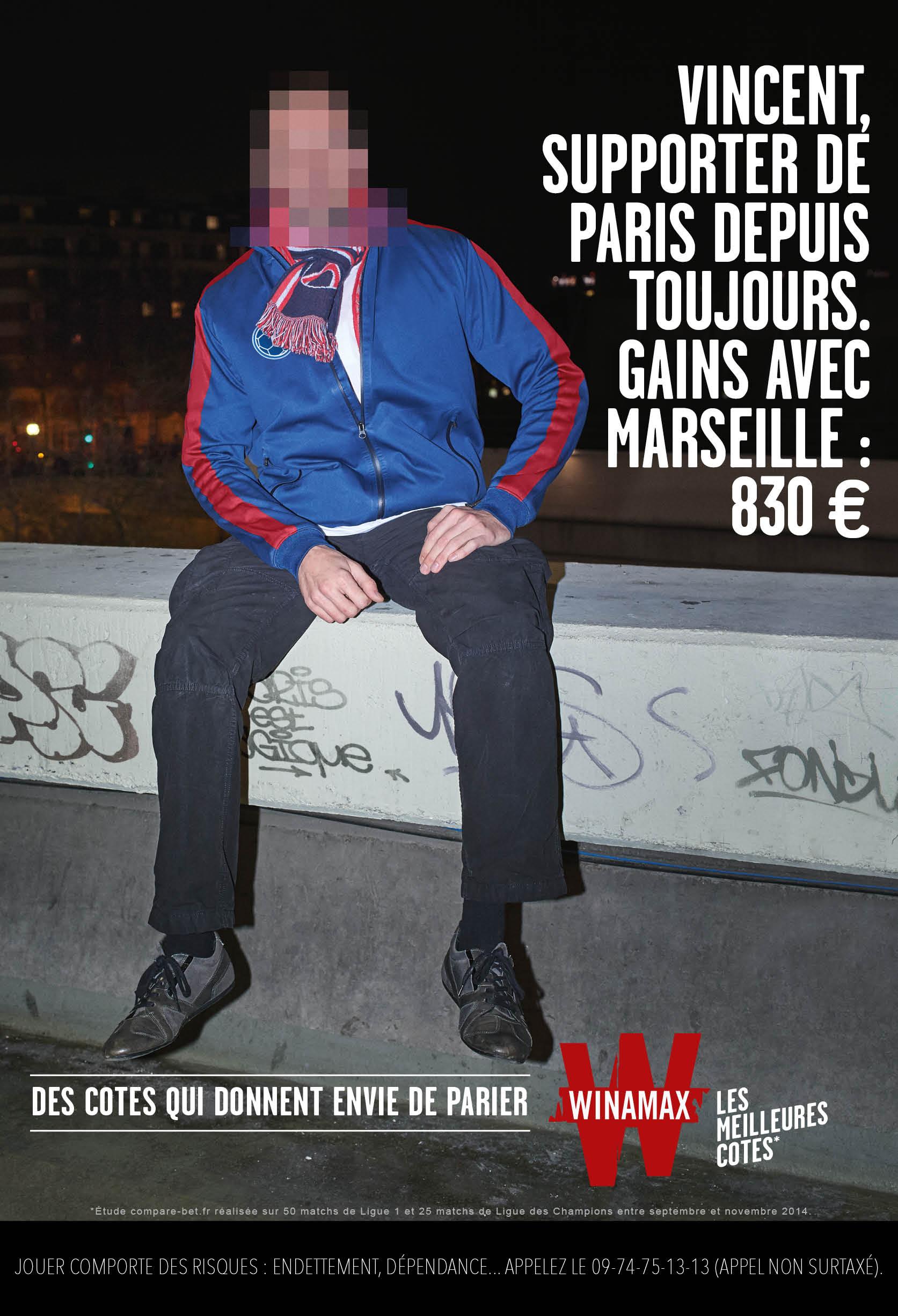 PSG pub winamax paris sportifs