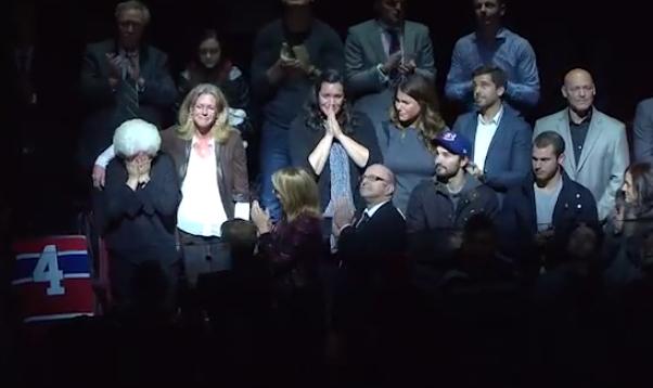 canadiens de montréal jean béliveau hommage centre bell