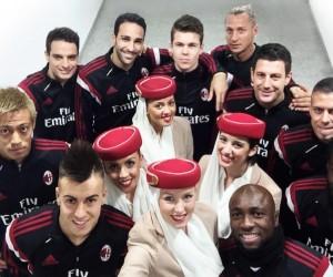 Emirates sponsor maillot du Milan AC jusqu'en 2020