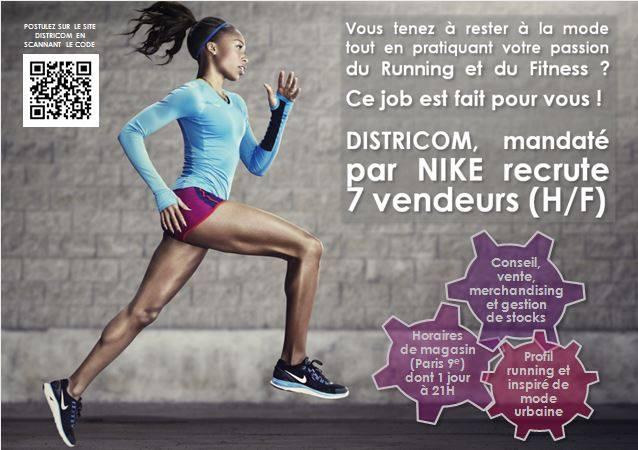 wholesale dealer 9045a b2485 emploi Nike fitness vendeurs
